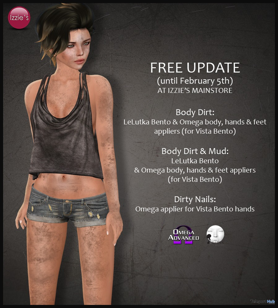 Body Dirt & Mud Appliers Free Update Gift by Izzie's - Teleport Hub - teleporthub.com