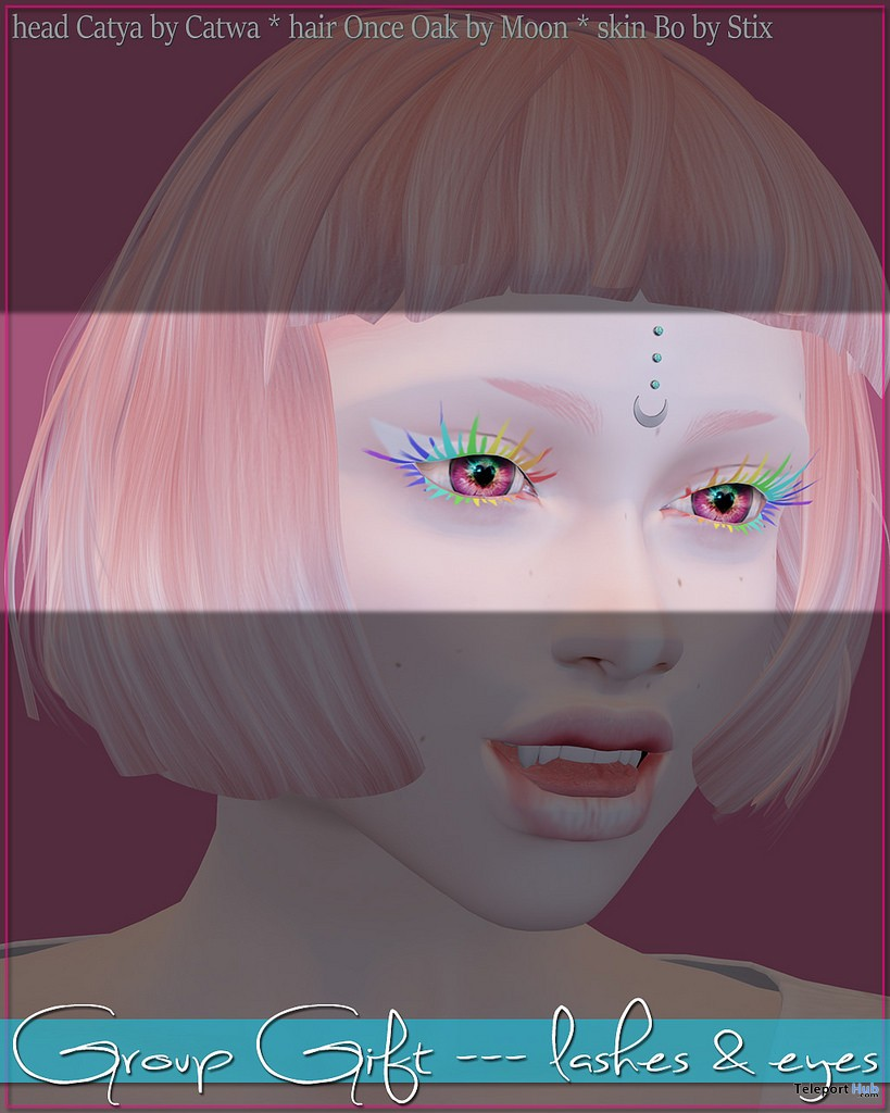Lashes & Eyes For Catwa Head Group Gift by Stix - Teleport Hub - teleporthub.com