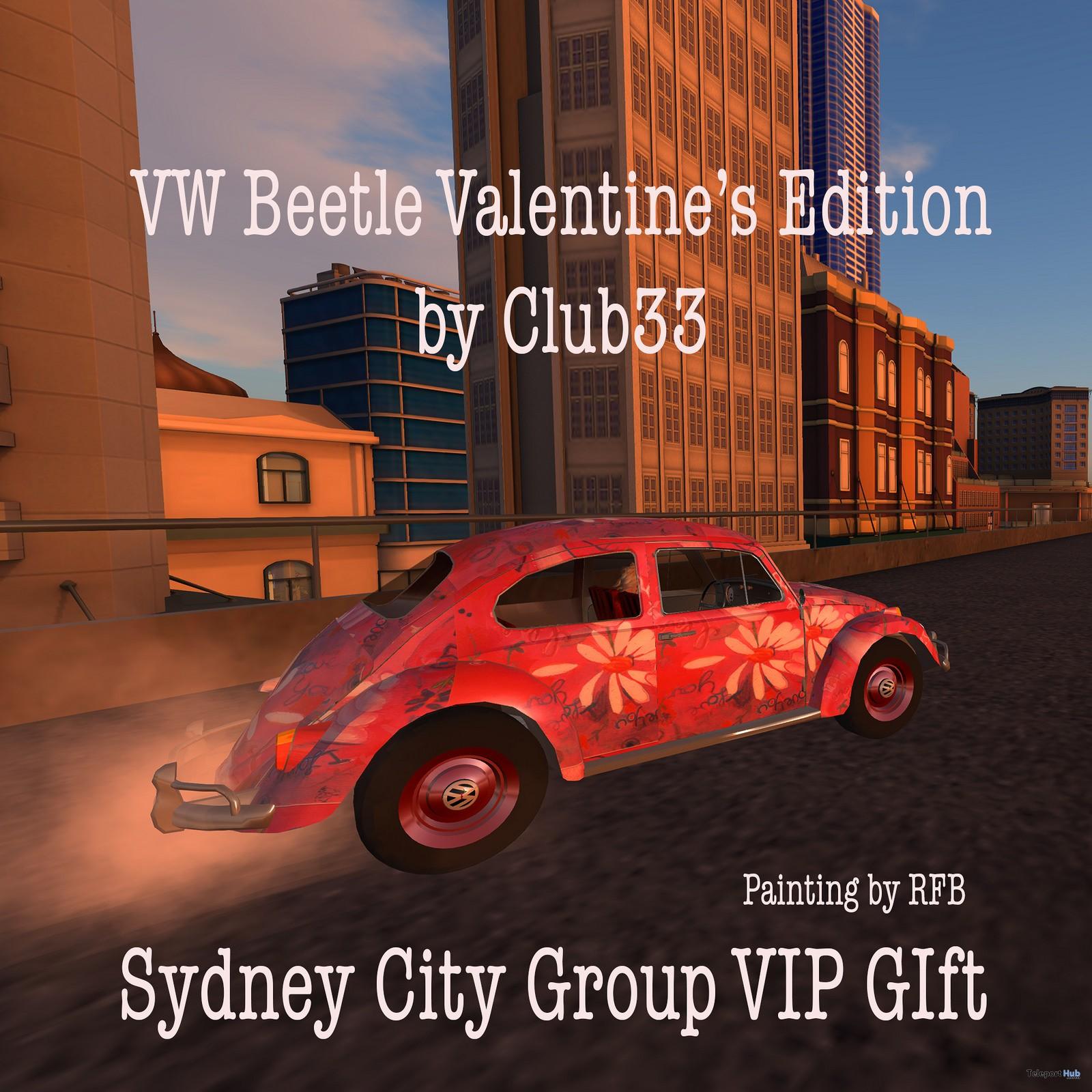 VW Valentines Beetle 1970 Car Sydney City Group Gift by RaC - Teleport Hub - teleporthub.com
