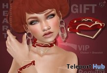 Heart Chocker & Bracelets Group Gift by Boutique #187# - Teleport Hub - teleporthub.com