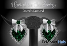 Heart of the Sea Earrings Emerald Diamond Subscriber Gift by Zuri Jewelry - Teleport Hub - teleporthub.com