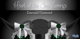 Heart of the Sea Earrings Emerald Diamond Subscriber Gift by Zuri Jewelry - Teleport Hub - teleporthub.com
