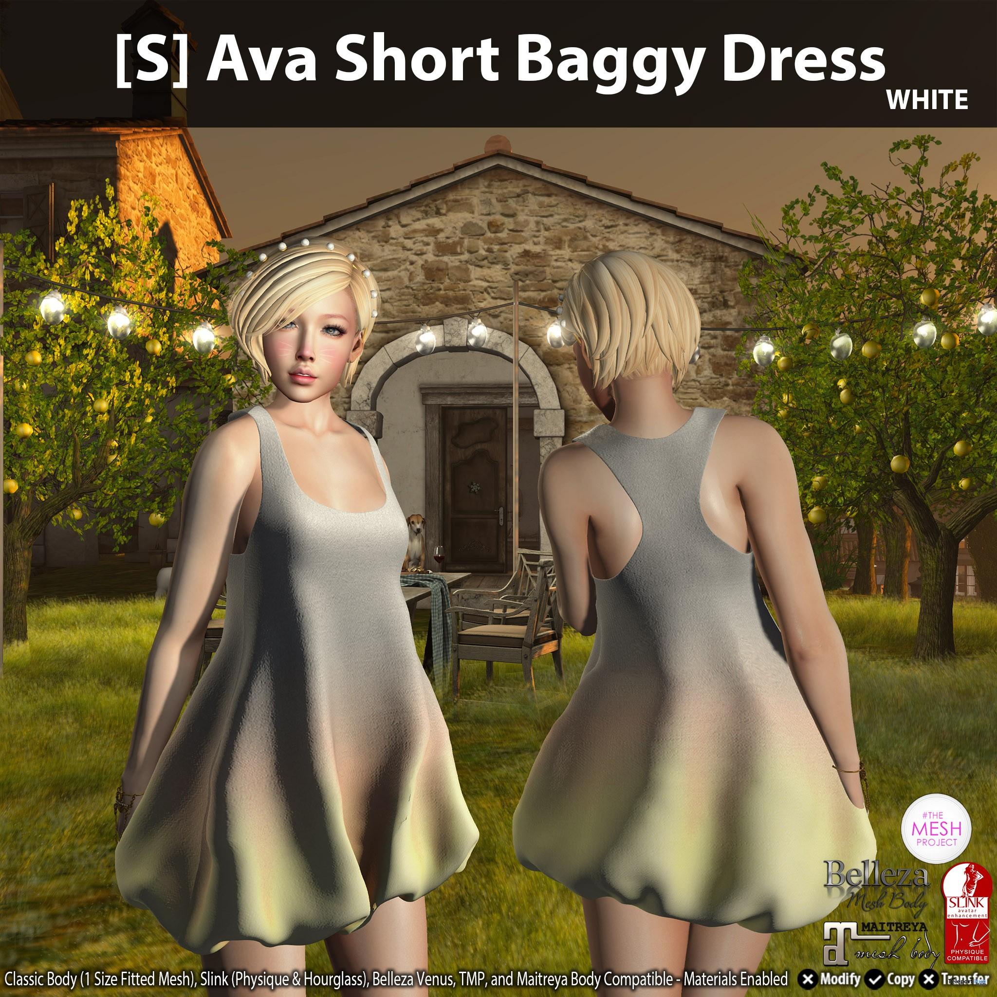 New Release: [S] Ava Short Baggy Dress by [satus Inc] - Teleport Hub - teleporthub.com