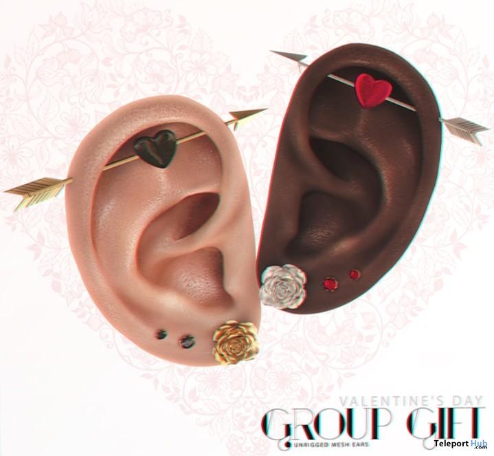 Mesh Ears Valentine 2017 Group Gift by PumeC - Teleport Hub - teleporthub.com