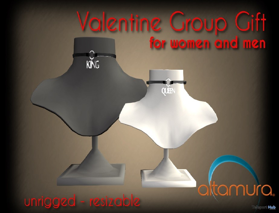 King & Queen Chokers Valentine 2017 Group Gift by Altamura - Teleport Hub - teleporthub.com