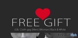 Cloth Gag Unisex Kinky Event March 2017 Round Gift by GABRIEL - Teleport Hub - teleporthub.com