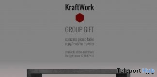 Concrete Picnic Table Group Gift by KraftWork - Teleport Hub - teleporthub.com