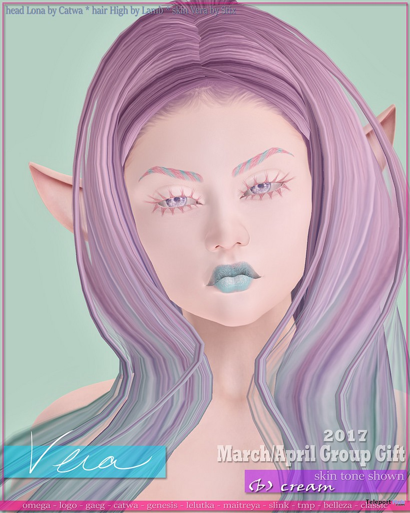 Vera Skin & Makeup With Appliers March 2017 Group Gift by Stix - Teleport Hub - teleporthub.com