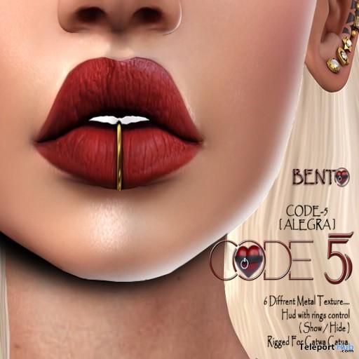 Alegra V01 Lip Piercings Group Gift by CODE-5 - Teleport Hub - teleporthub.com