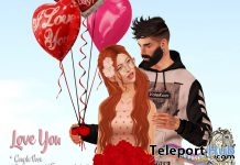 Love You Couple Pose The Liaison Collaborative Anniversary Gift by Fashiowl Poses - Teleport Hub - teleporthub.com