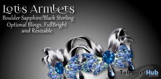 Lotis Armlets Boulder Sapphire Group Gift by Zuri Jewelry - Teleport Hub - teleporthub.com