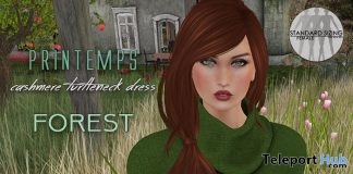 Forest Cashmere Turtleneck Dress March 2017 Group Gift by Poeme - Teleport Hub - teleporthub.com