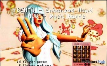 Enhanced Bento Hand and Universal Bento Hand Pose HUD Gift by UNKO - Teleport Hub - teleporthub.com