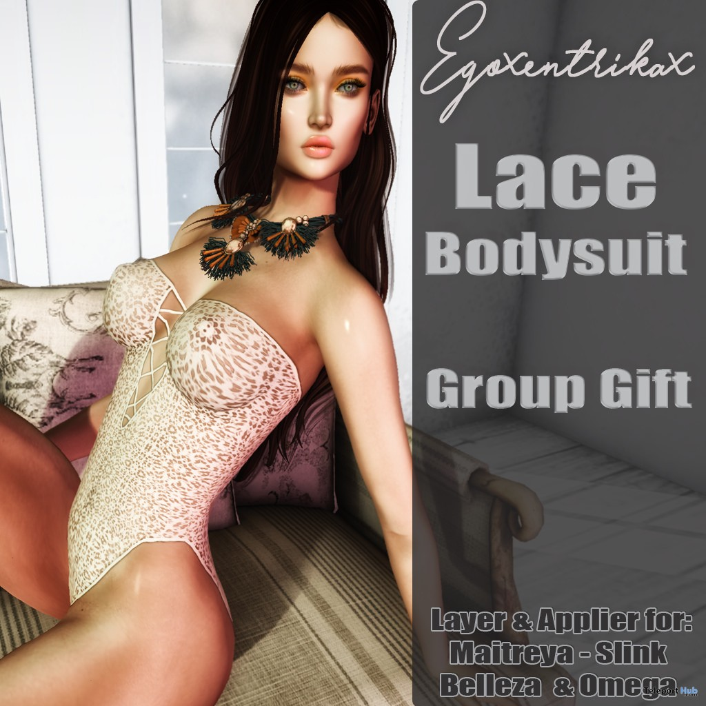 Lace Bodysuit April 2017 Group Gift by Egoxentrikax - Teleport Hub - teleporthub.com