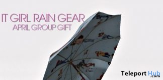 It Girl Rain Gear April 2017 Group Gift by Sevyn East - Teleport Hub - teleporthub.com