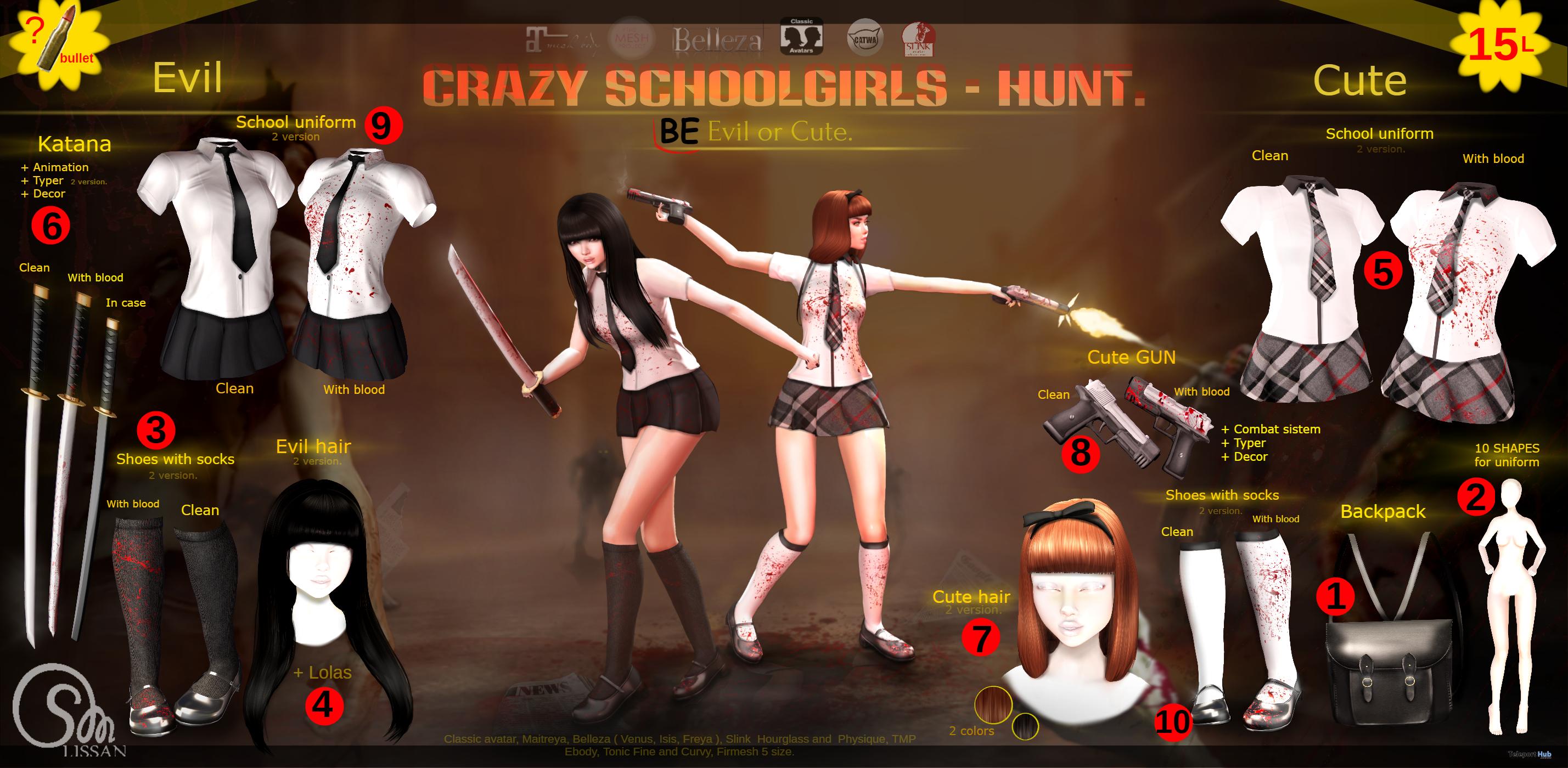 Crazy Schoolgirls Hunt - Teleport Hub - teleporthub.com