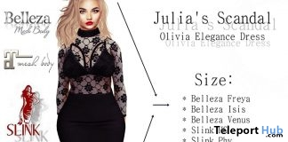 Olivia Elegance Dress 15L Promo by Julia's Scandal - Teleport Hub - teleporthub.com