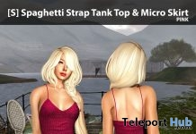 New Release: [S] Spaghetti Strap Tank Top & Micro Skirt by [satus Inc] - Teleport Hub - teleporthub.com