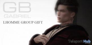 Asymmetric Jacket Maroon L'HOMME Magazine Group Gift by Gabriel - Teleport Hub - teleporthub.com