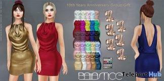 Rome Draped Dress 10th Anniversary Group Gift by Baiastice - Teleport Hub - teleporthub.com