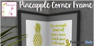 Pineapple Corner Frame June 2017 Group Gift by cute as f*ck - Teleport Hub - teleporthub.com