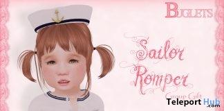 Sailor Romper June 2017 Group Gift by Buglets - Teleport Hub - teleporthub.com