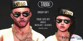 Thug Life Kit June 2017 Group Gift by TABOU - Teleport Hub - teleporthub.com