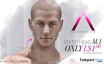 Static Mesh Head M1 1L Promo Gift by Anderson - Teleport Hub - teleporthub.com
