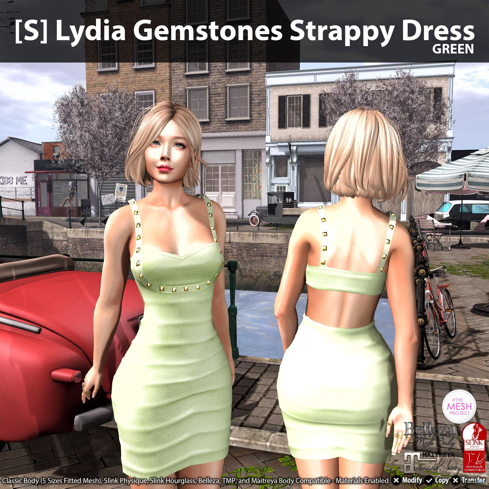 New Release: [S] Lydia Gemstones Strappy Dress by [satus Inc] - Teleport Hub - teleporthub.com