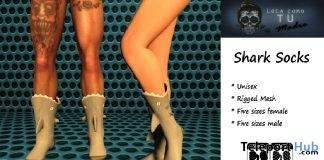 Shark Socks Unisex Group Gift by Loca Como Tu Madre - Teleport Hub - teleporthub.com