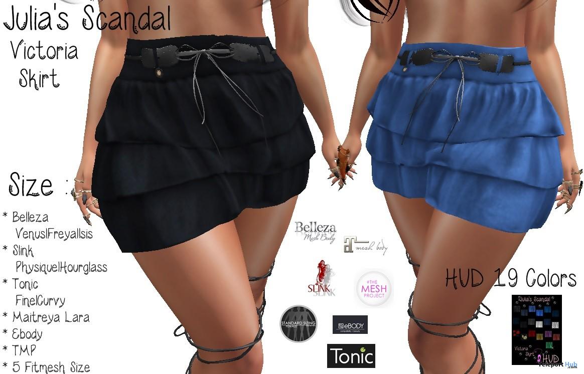 Victoria Skirt FatPack 100L Promo by Julia's Scandal - Teleport Hub - teleporthub.com
