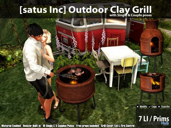 New Release: Outdoor Clay Grill by [satus Inc] - Teleport Hub - teleporthub.com
