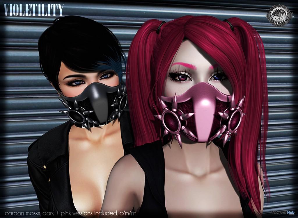 Carbon Masks Group Gift by Violetility - Teleport Hub - teleporthub.com