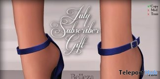 Blue Heels July 2017 Subscriber Gift by Graffitiwear - Teleport Hub - teleporthub.com