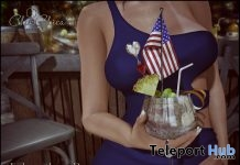 Happy Independence Cocktail Drink July 4th Gift by Chic Chica - Teleport Hub - teleporthub.com