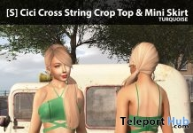 New Release: [S] Cici Cross String Crop Top & Mini Skirt by [satus Inc] - Teleport Hub - teleporthub.com
