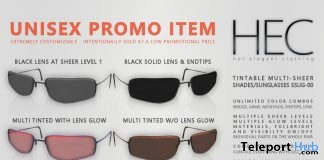Unisex Tintable Multi-Sheer Sunglasses 99L Promo by HEC - Teleport Hub - teleporthub.com