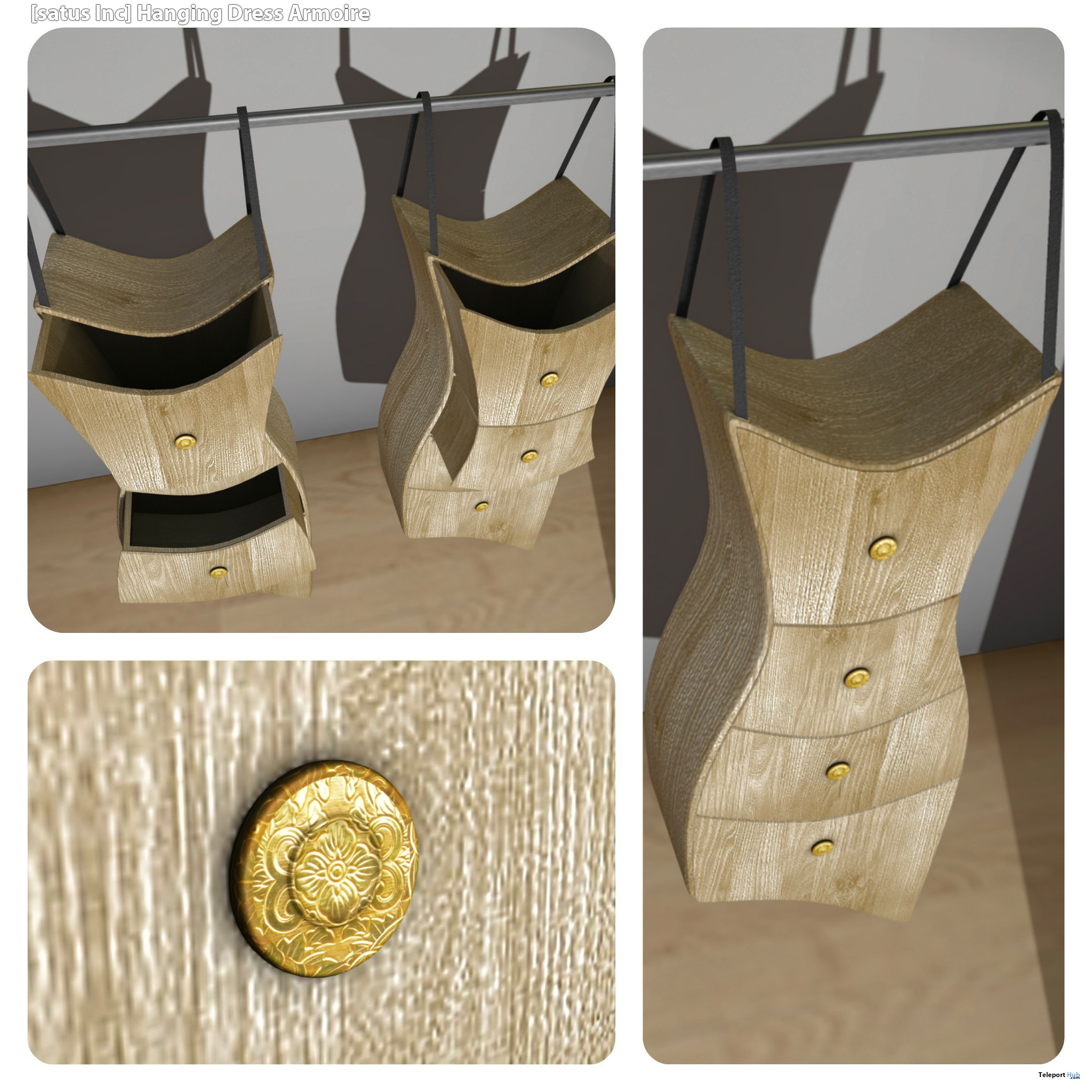 New Release: Hanging Dress Armoire by [satus Inc] - Teleport Hub - teleporthub.com