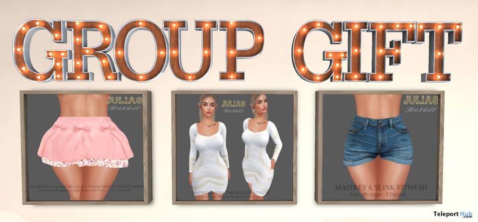 Skirt, Shorts, & White Dress Three Group Gifts by Julia's Scandal - Teleport Hub - teleporthub.com