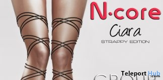 Ciara Heels Strappy Edition Black August 2017 Group Gift by N-CORE - Teleport Hub - teleporthub.com