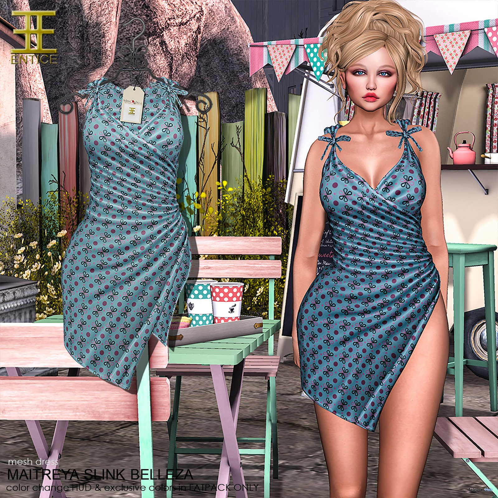 The Greatest Dress Blue The Makeover Room Event September 2017 Group Gift by ENTICE - Teleport Hub - teleporthub.com