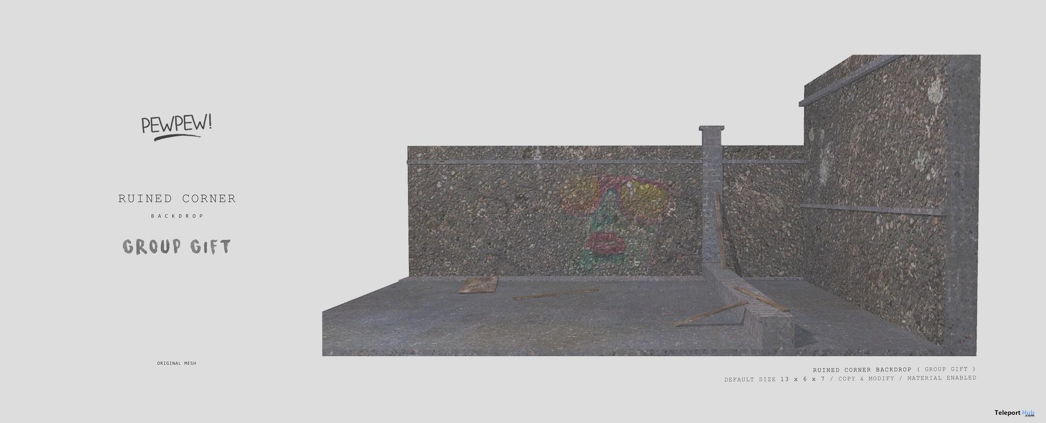 Ruined Corner Backdrop Group Gift by Pewpew! - Teleport Hub - teleporthub.com