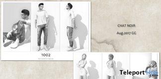 Pose Packs 1002 & 1202 For Men & Women August 2017 Group Gift by CHAT NOIR - Teleport Hub - teleporthub.com