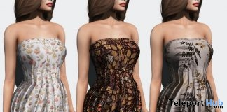 Autumn Dress With Texture Changer HUD Group Gift by Thalia Heckroth - Teleport Hub - teleporthub.com