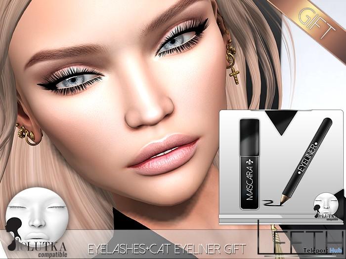 Eyelashes & Cat Eyeliner For Lelutka Heads 1L Promo Gift by LEETH - Teleport Hub - teleporthub.com