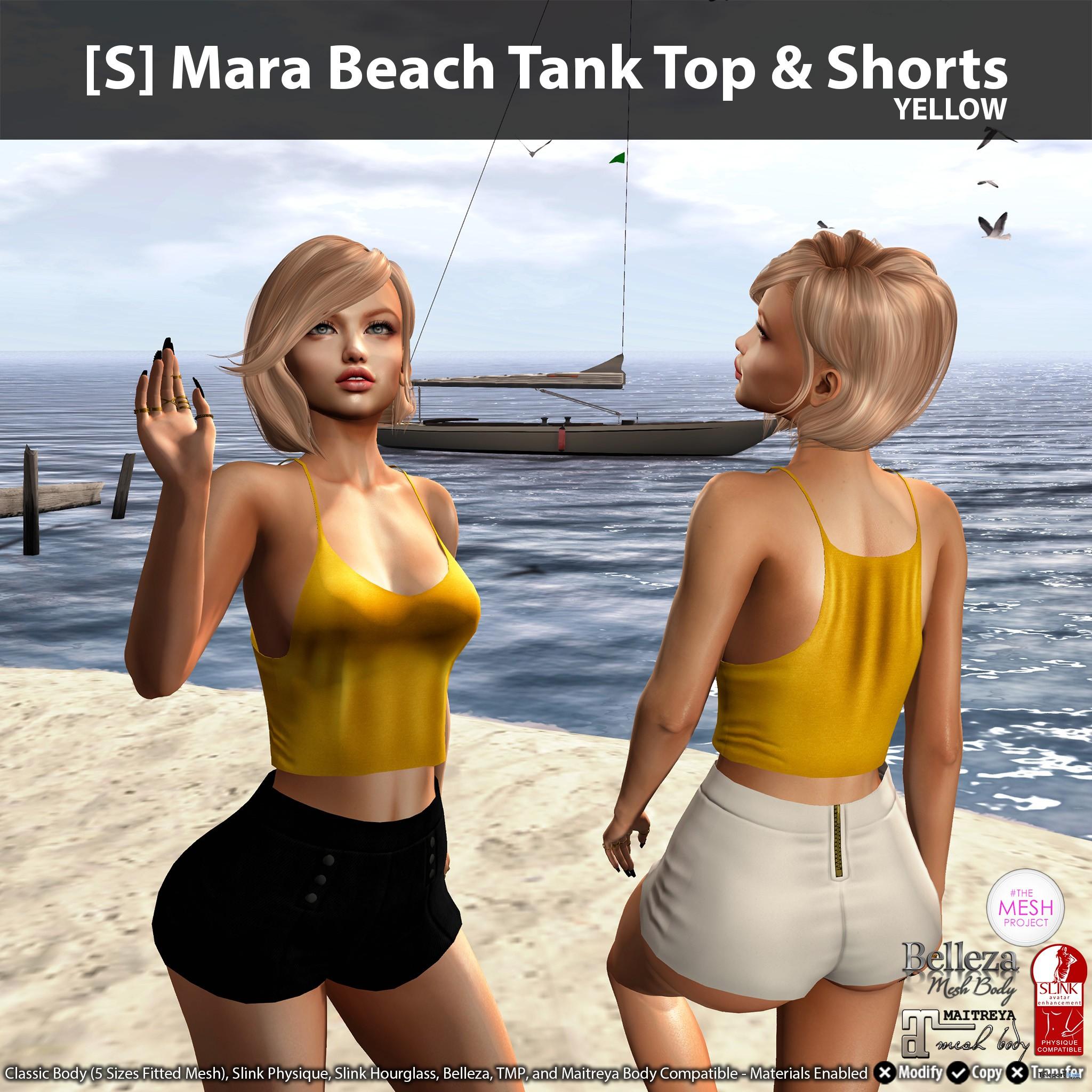 New Release: [S] Mara Beach Tank Top & Shorts by [satus Inc] - Teleport Hub - teleporthub.com