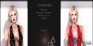 Tess Flowers Dress Group Gift by Xtravagance - Teleport Hub - teleporthub.com