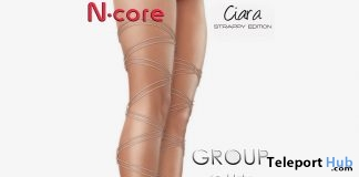Ciara Heels Strappy Edition Nude August 2017 Group Gift by N-CORE - Teleport Hub - teleporthub.com