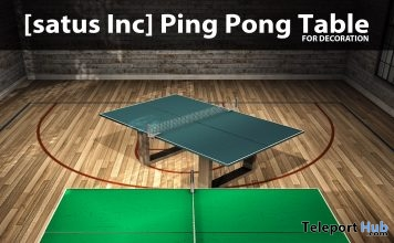 New Release: Ping Pong Table by [satus Inc] - Teleport Hub - teleporthub.com