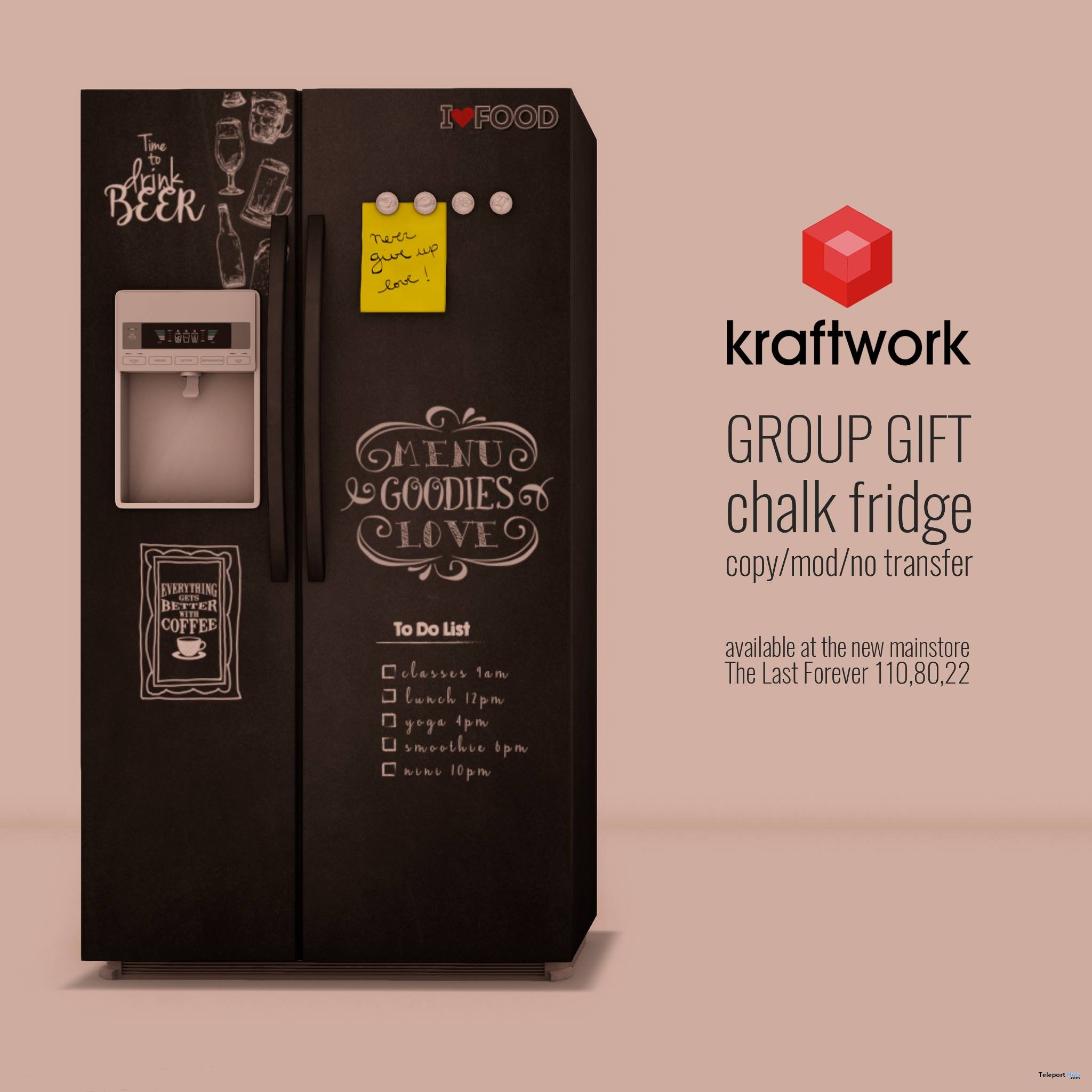 Chalk Fridge September 2017 Group Gift by KraftWork - Teleport Hub - teleporthub.com